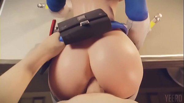 3D Cosplay Teen Girl Having Anal Sex